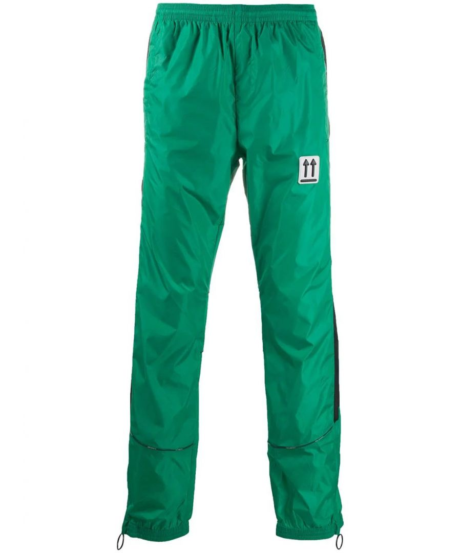 Image for OFF-WHITE MEN'S OMCA123S20A230204400 GREEN POLYAMIDE PANTS