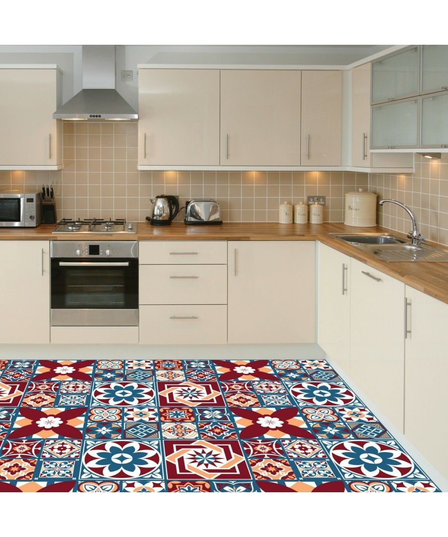 Image for Westminster Tiles Melange Floor Sticker 120cm x 60 cm, Kitchen, Bathroom, Living room, Self-adhesive