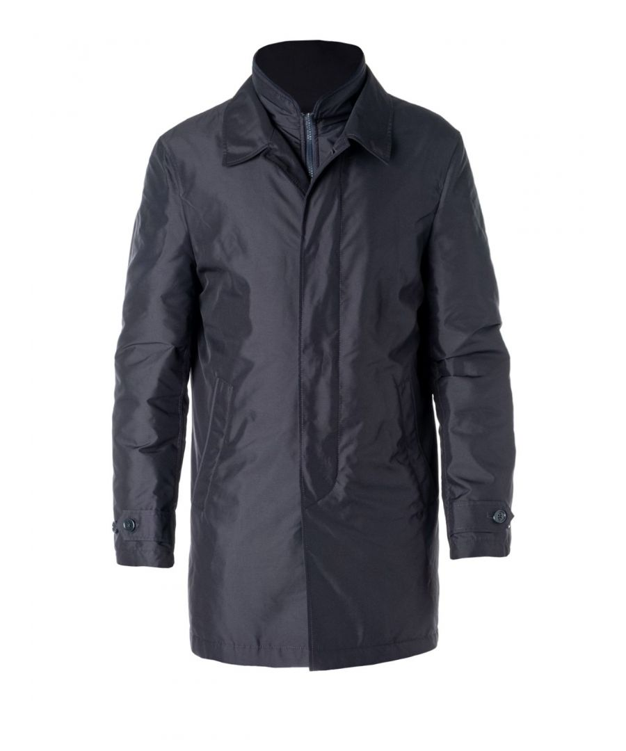 Image for FAY MEN'S NAM61390160AXXU804 BLUE POLYESTER COAT