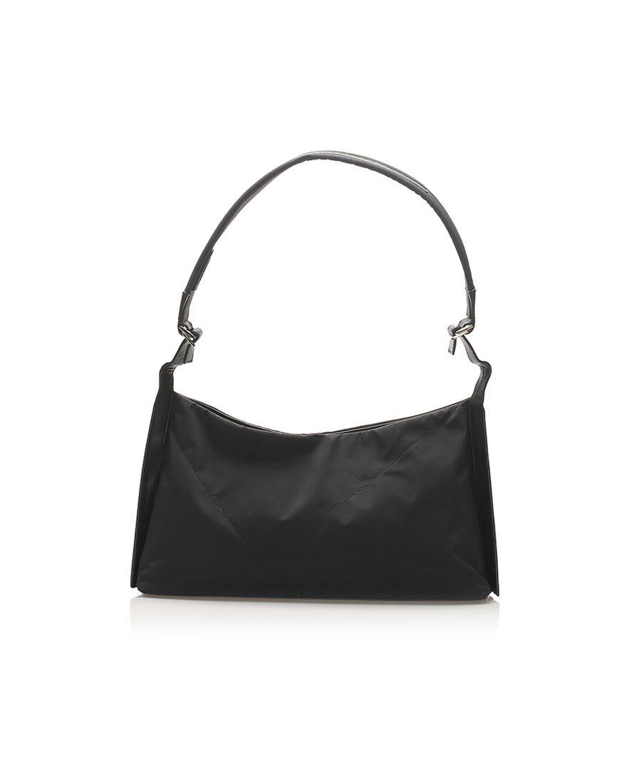 Image for Vintage Ferragamo Gancini Nylon Shoulder Bag Black