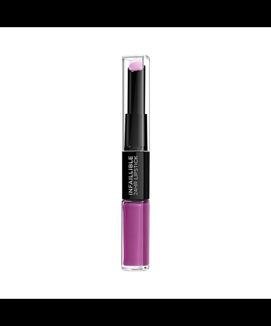 Image for L'oreal infaillible 24hr 2 step lipstick - 216 permanent plum