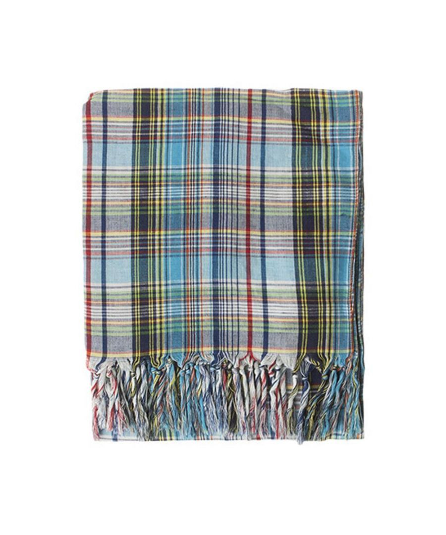 Image for Men's Hackett, Madras Scarf in Blue