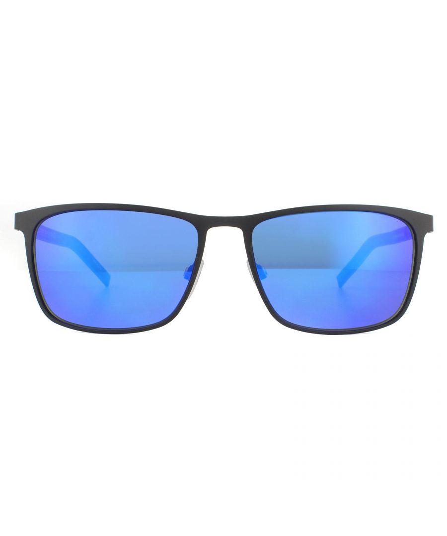 Image for Tommy Hilfiger Sunglasses Th 1716/S 0Vk Z0 Matte Black Blue Blue Mirror