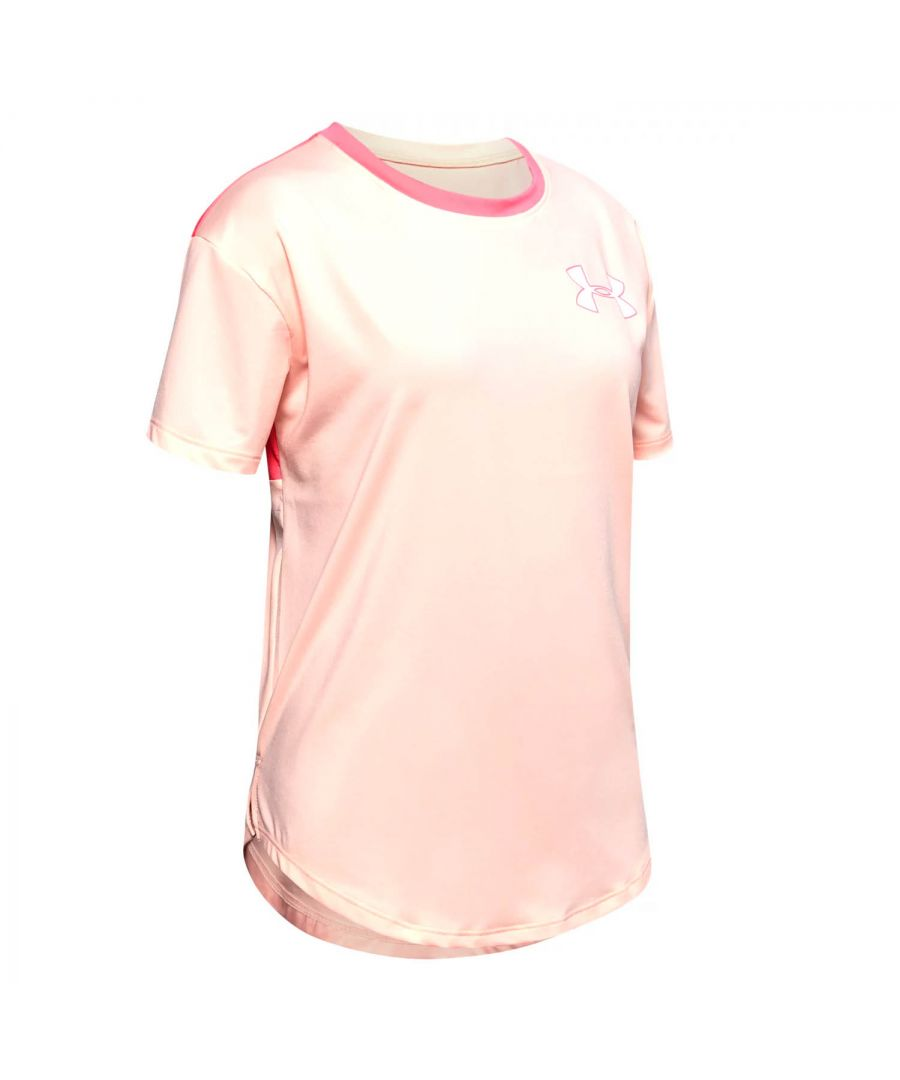 Image for Under Armour HeatGear Armour Girls T-Shirt Pink - YM