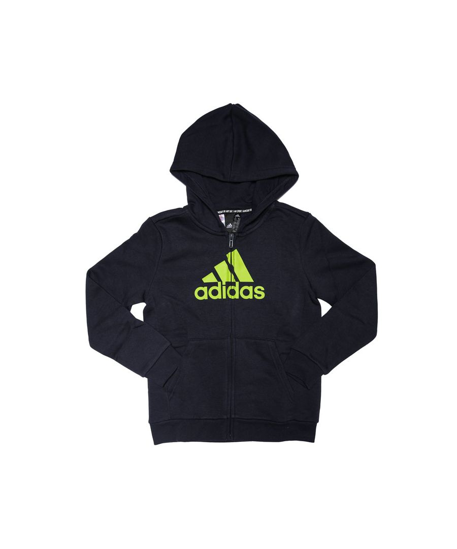 Image for Boy's adidas Infant Must Haves Zip Hoodie in Navy