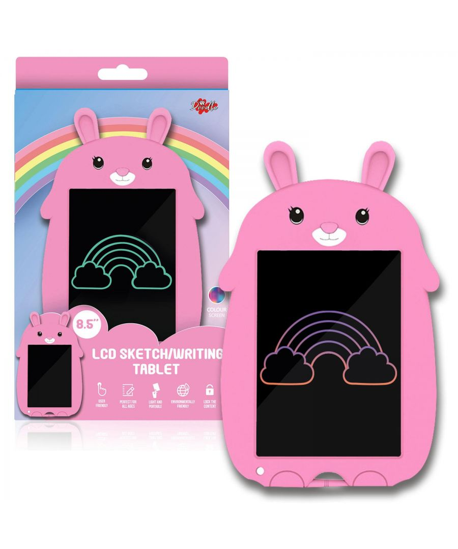 Image for Doodle 8.5inch Kid's LCD Writing Tablet With Cartoon Pad Pink Rabbit