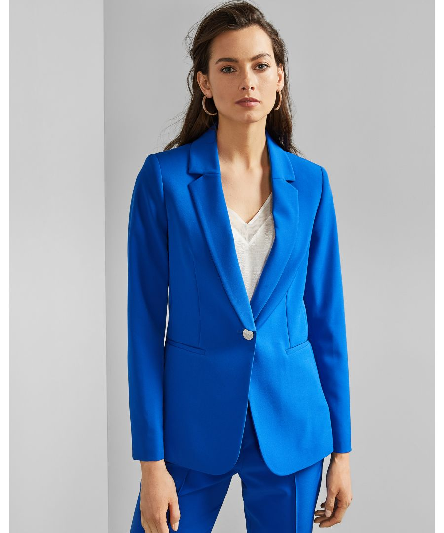 Image for Ted Baker Ariee Longline Single Breasted Jacket, Blue