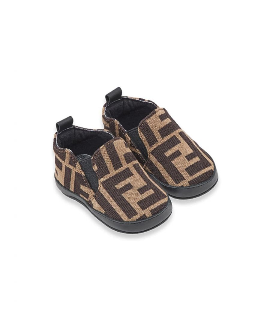 Image for FENDI BABY BOYS BMR058A6A6F0E0X BROWN COTTON SLIP ON SNEAKERS