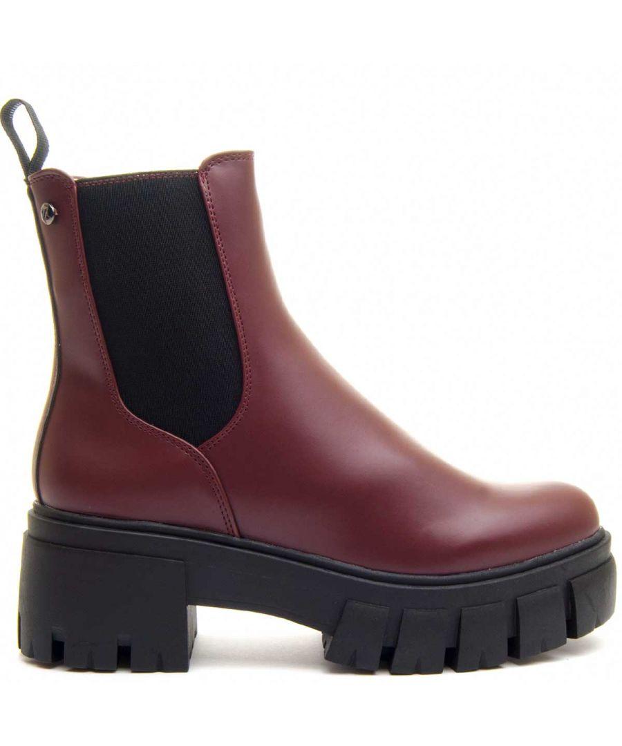Image for Montevita Chunky Heel Chelsea Boot in Bordo