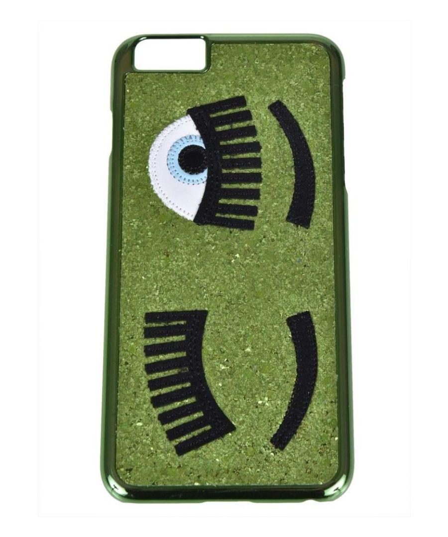 Image for CHIARA FERRAGNI WOMEN'S CFCIP6P001GREEN GREEN PVC COVER