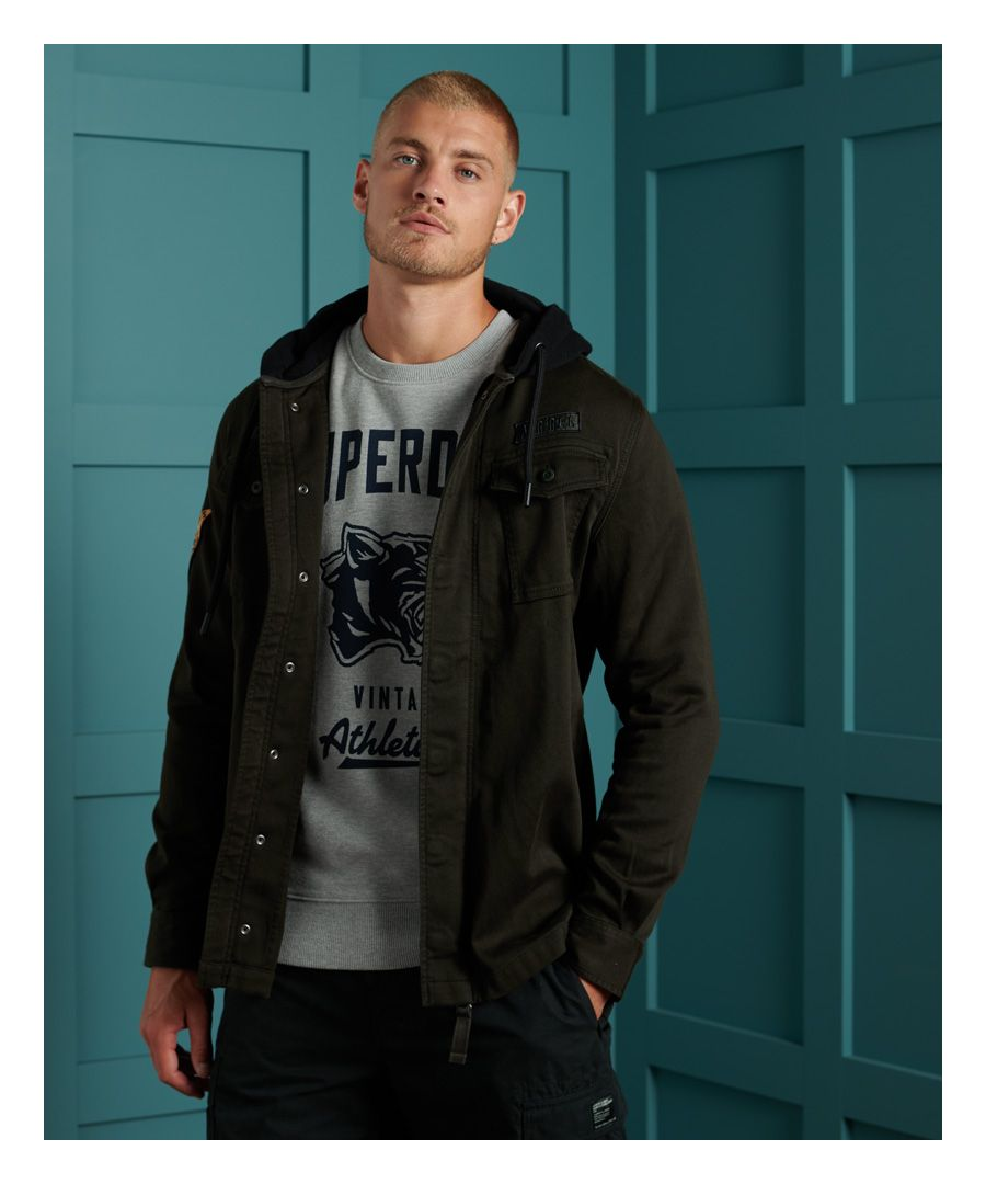Image for Superdry Core Military Patched Hoodie