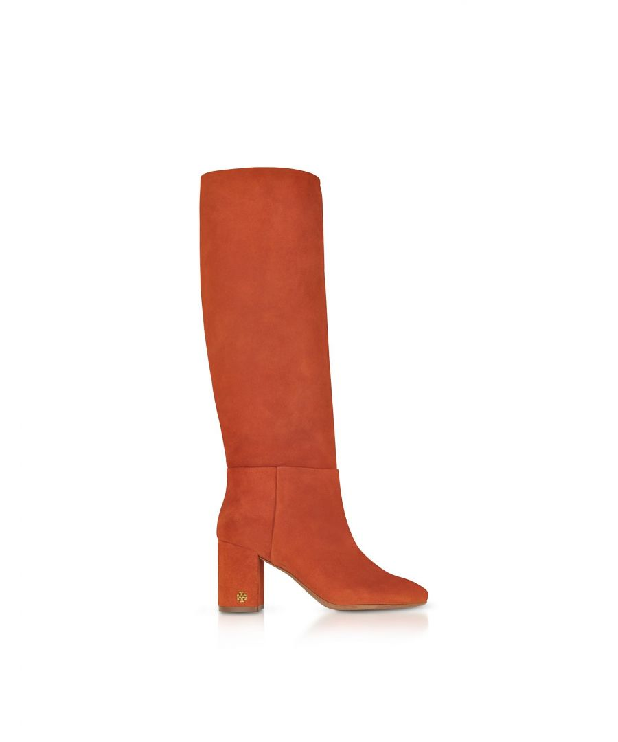 Image for TORY BURCH WOMEN'S 49136217 ORANGE SUEDE BOOTS