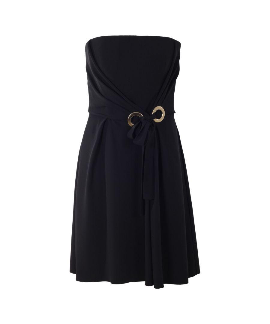Image for ALBERTA FERRETTI WOMEN'S A04761618555 BLACK ACETATE DRESS