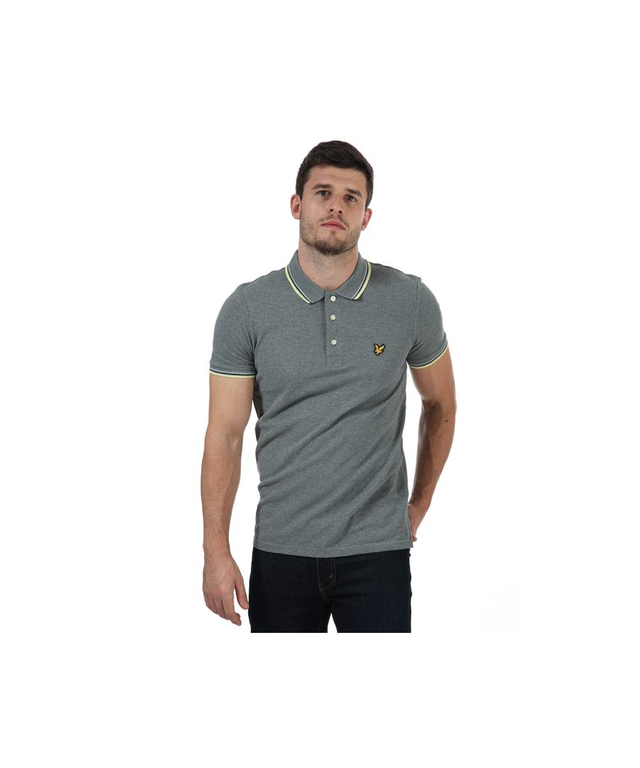Image for Men's Lyle And Scott Tipped Polo Shirt in Grey Marl
