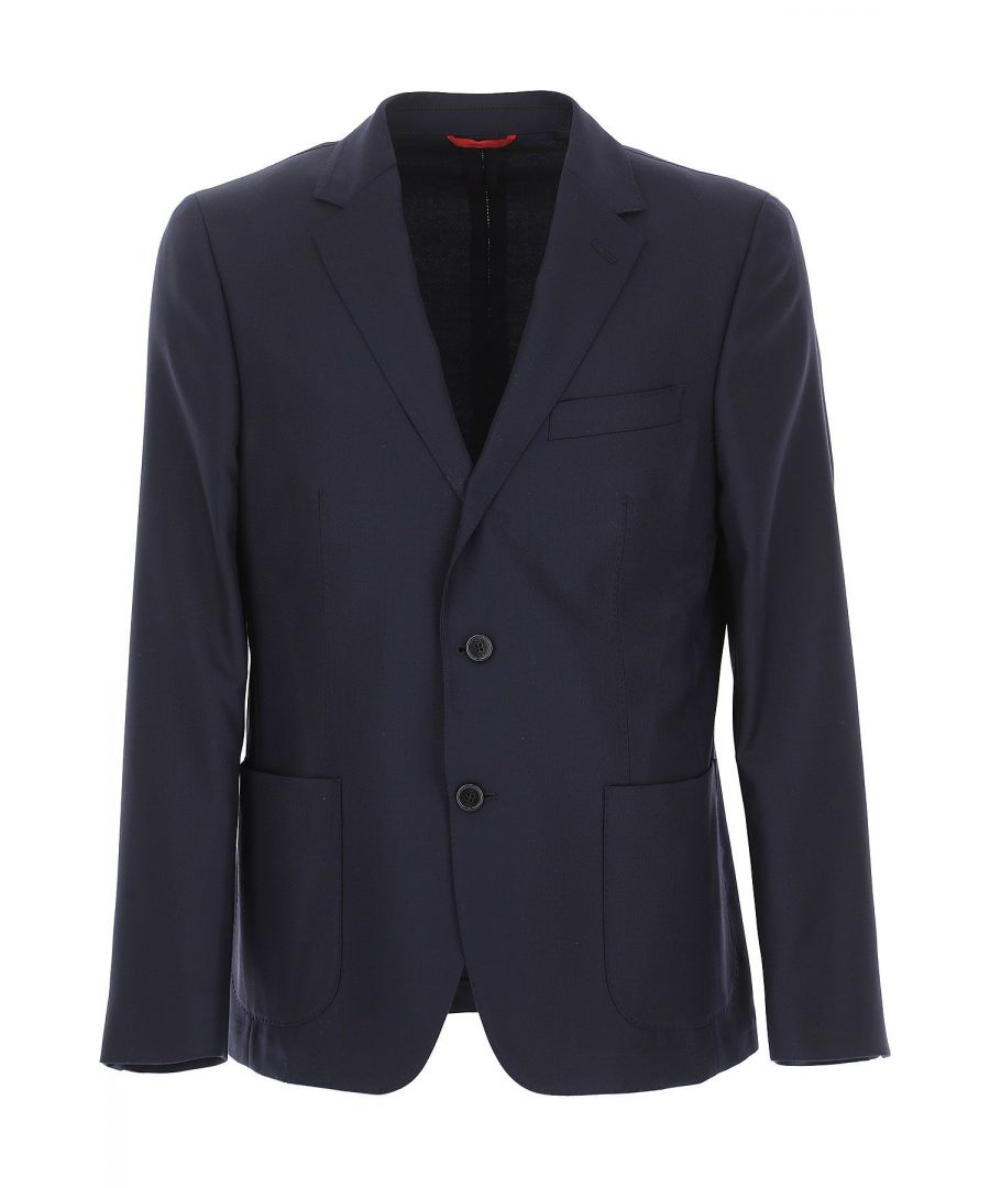 Image for FAY MEN'S NGM70380910QRNU807 BLUE WOOL BLAZER