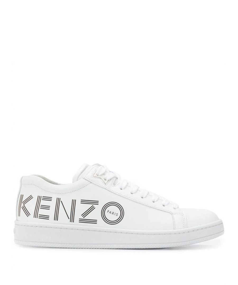 Image for KENZO MEN'S F965SN129L7101 WHITE LEATHER SNEAKERS