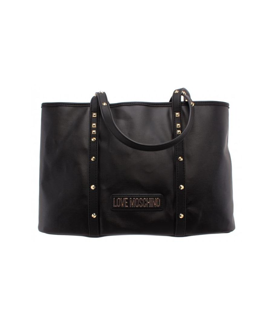 Image for Love Moschino Shoulder Bag With Studded Detail in Black