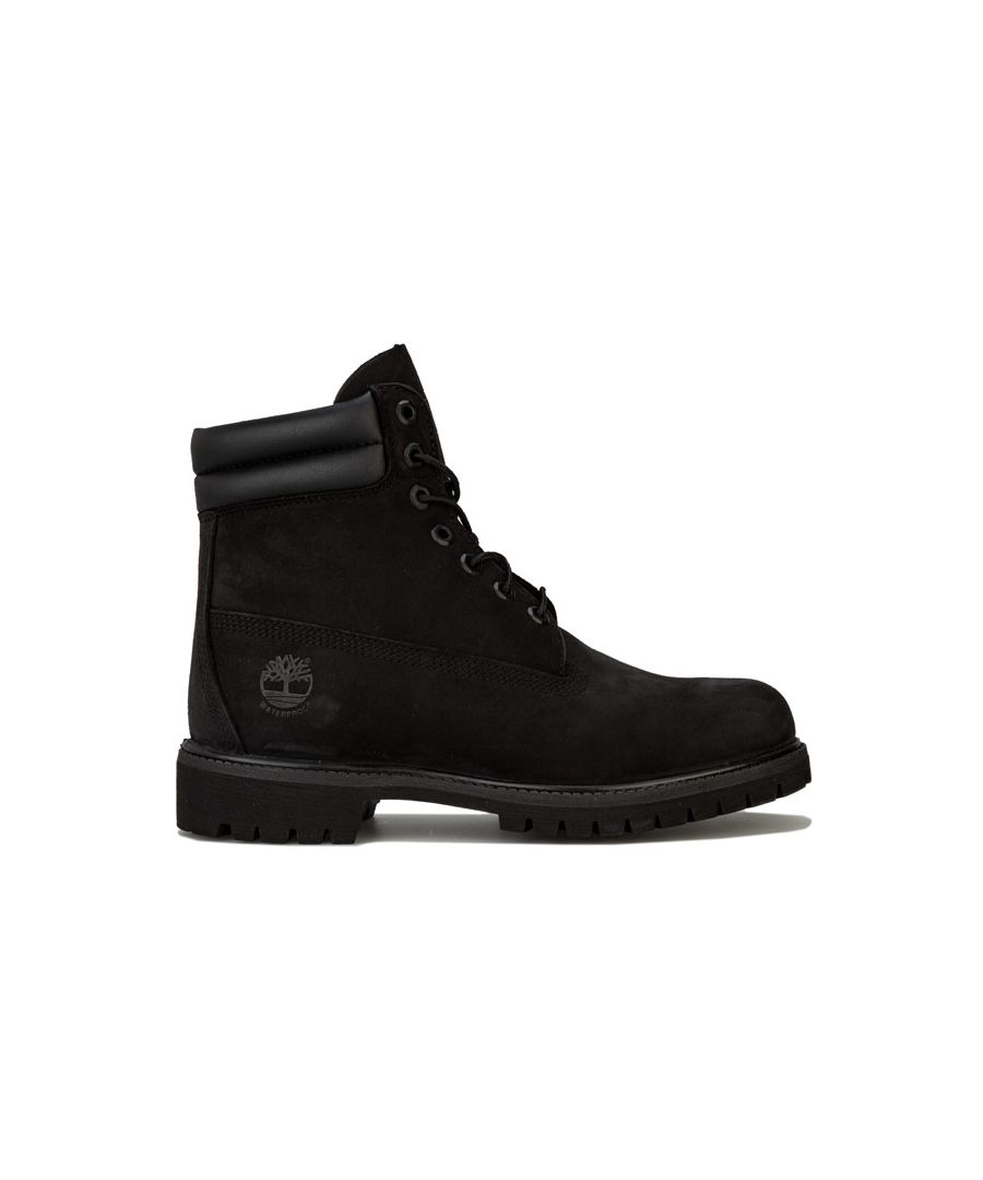 Image for Men's Timberland 6 Inch Double Collar Boots in Black