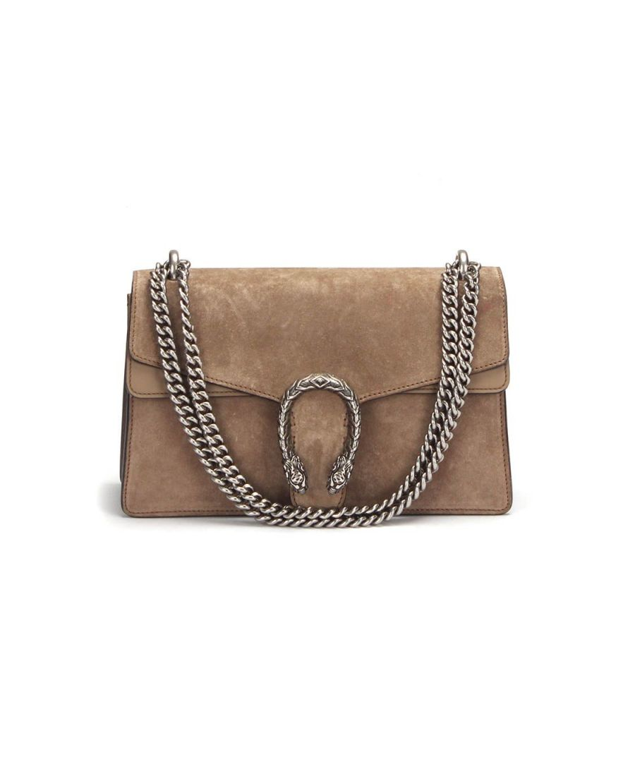 Image for Gucci Small Dionysus Suede Shoulder Bag in Brown - Pre Owned Condition Very Good