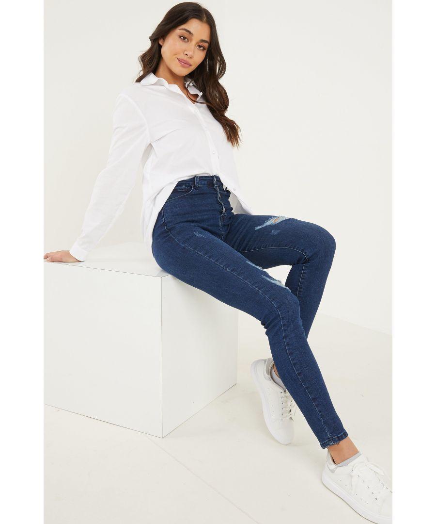 Image for Blue Denim High Waist Skinny Jeans