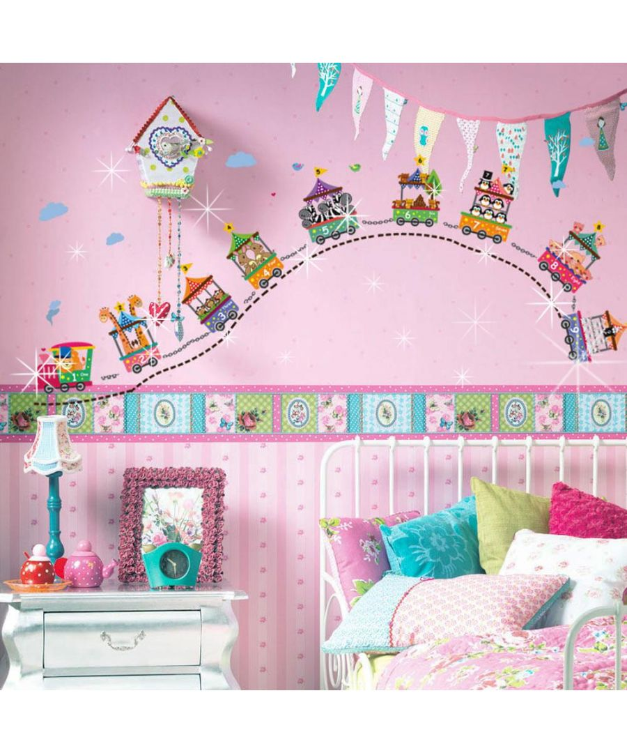 Image for Circus Number + 38pcs Swarovski 2.9mm Clear Crystals Wall Stickers Kids Room, nursery, children's room, boy, girl