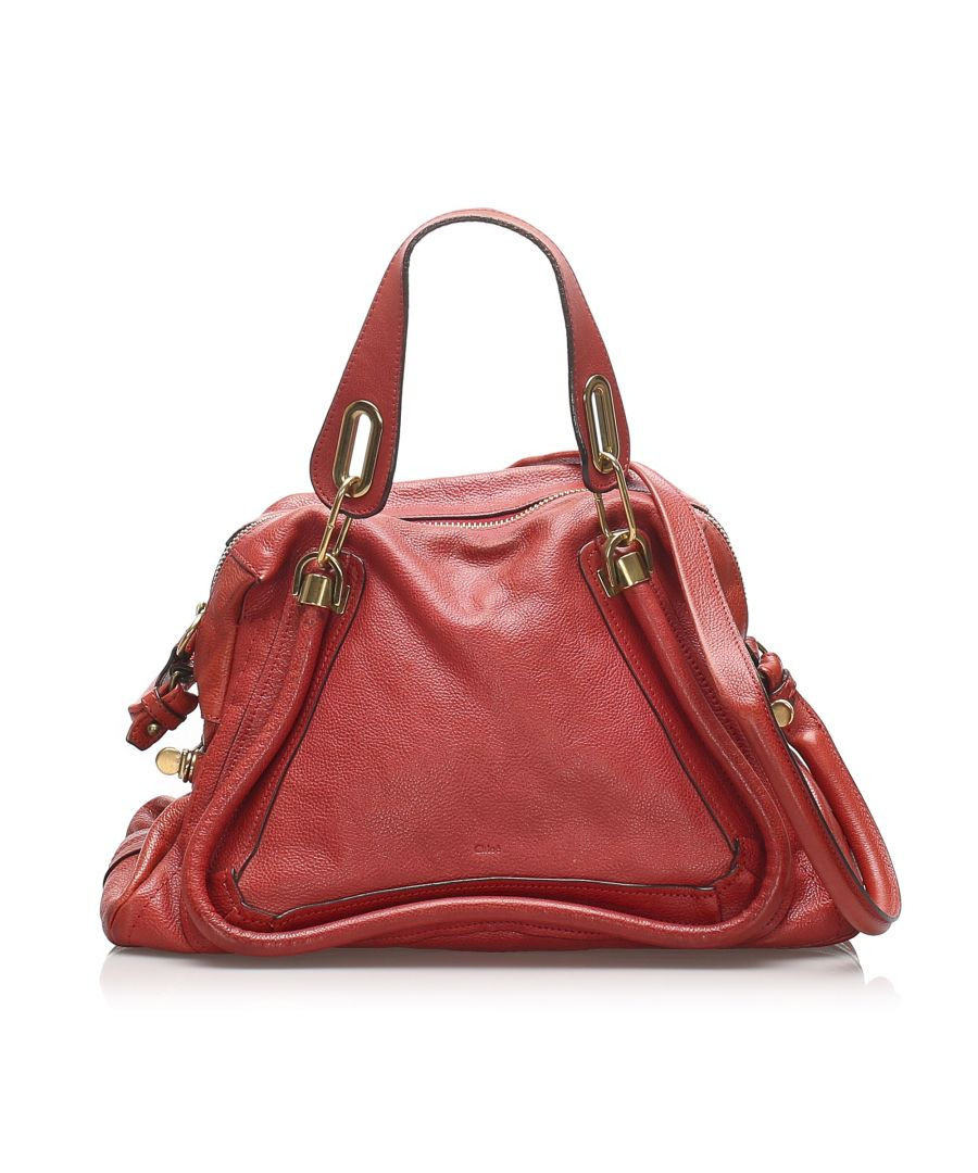 Image for Vintage Chloe Paraty Leather Satchel Red