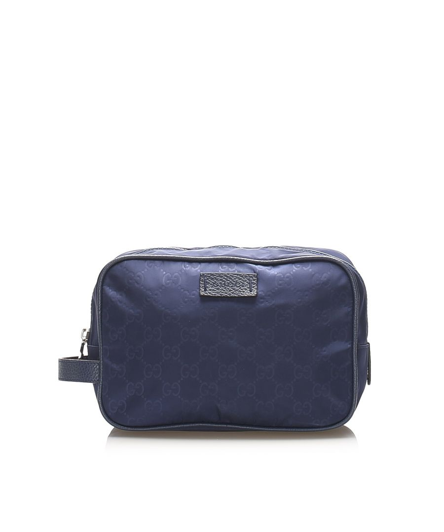 Image for Vintage Gucci GG Nylon Pouch Blue