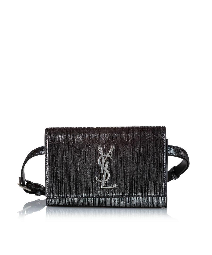 Image for Vintage YSL Kate Patent Leather Belt Bag Black