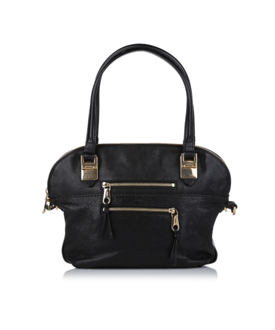 Image for Vintage Chloe Angie Leather Satchel Black