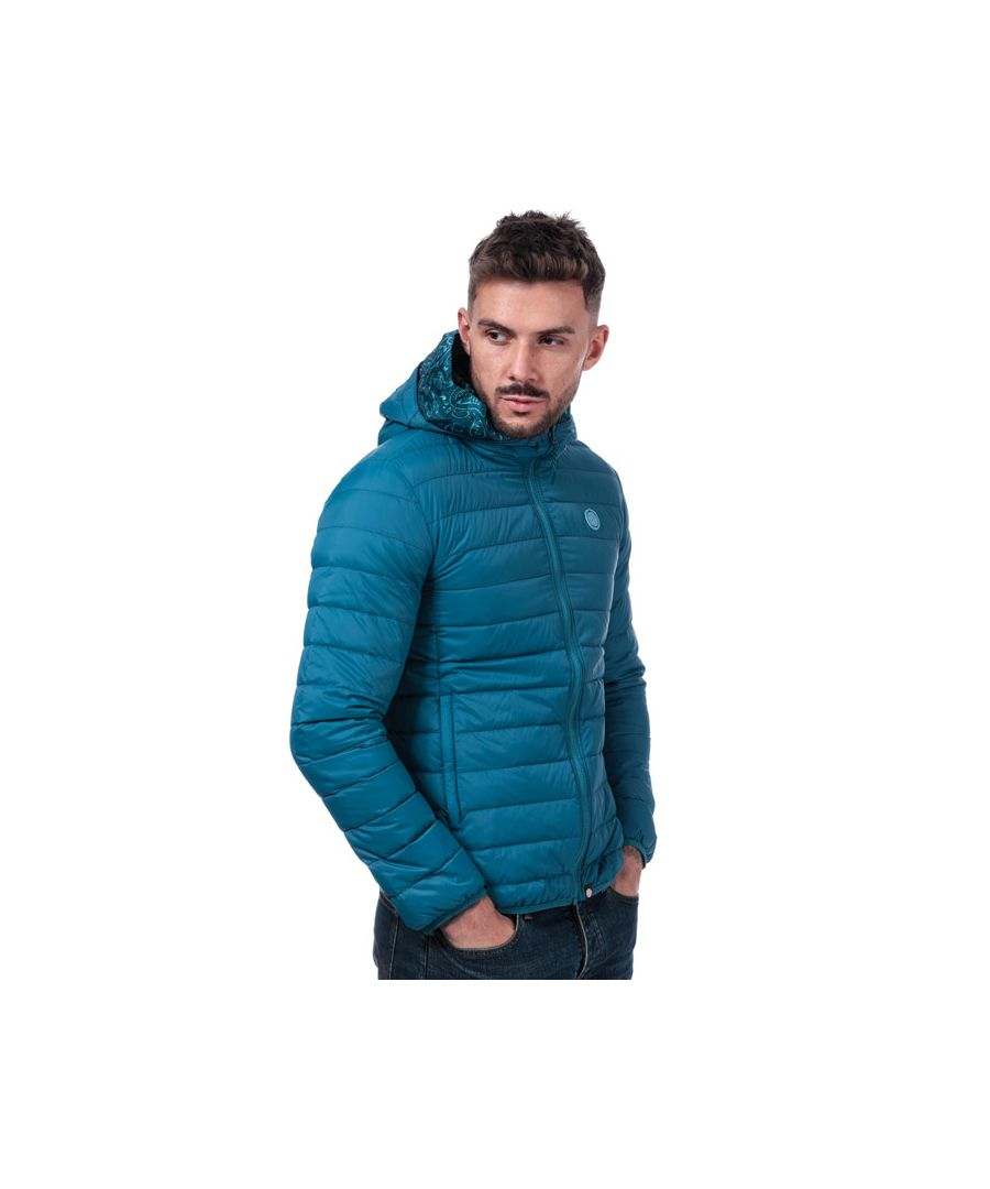 Image for Men's Pretty Green Barker Lightweight Quilted Jacket in Blue