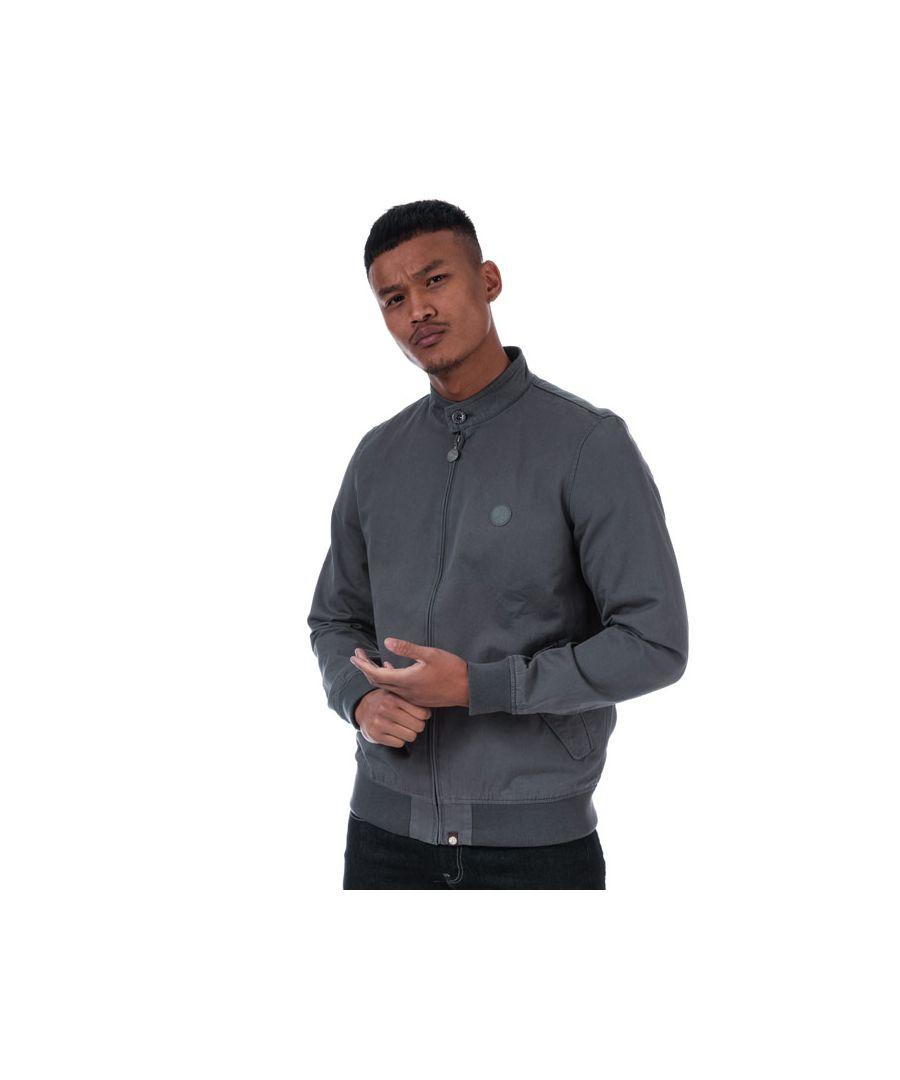 Image for Men's Pretty Green Newton Harrington Jacket in Grey