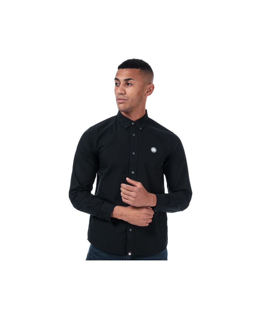 Image for Men's Pretty Green Classic Fit Oxford Shirt in Black
