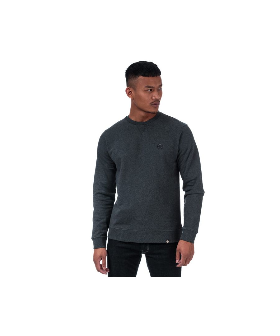Image for Men's Pretty Green Clements Long Sleeve Crew Sweat in Grey Marl