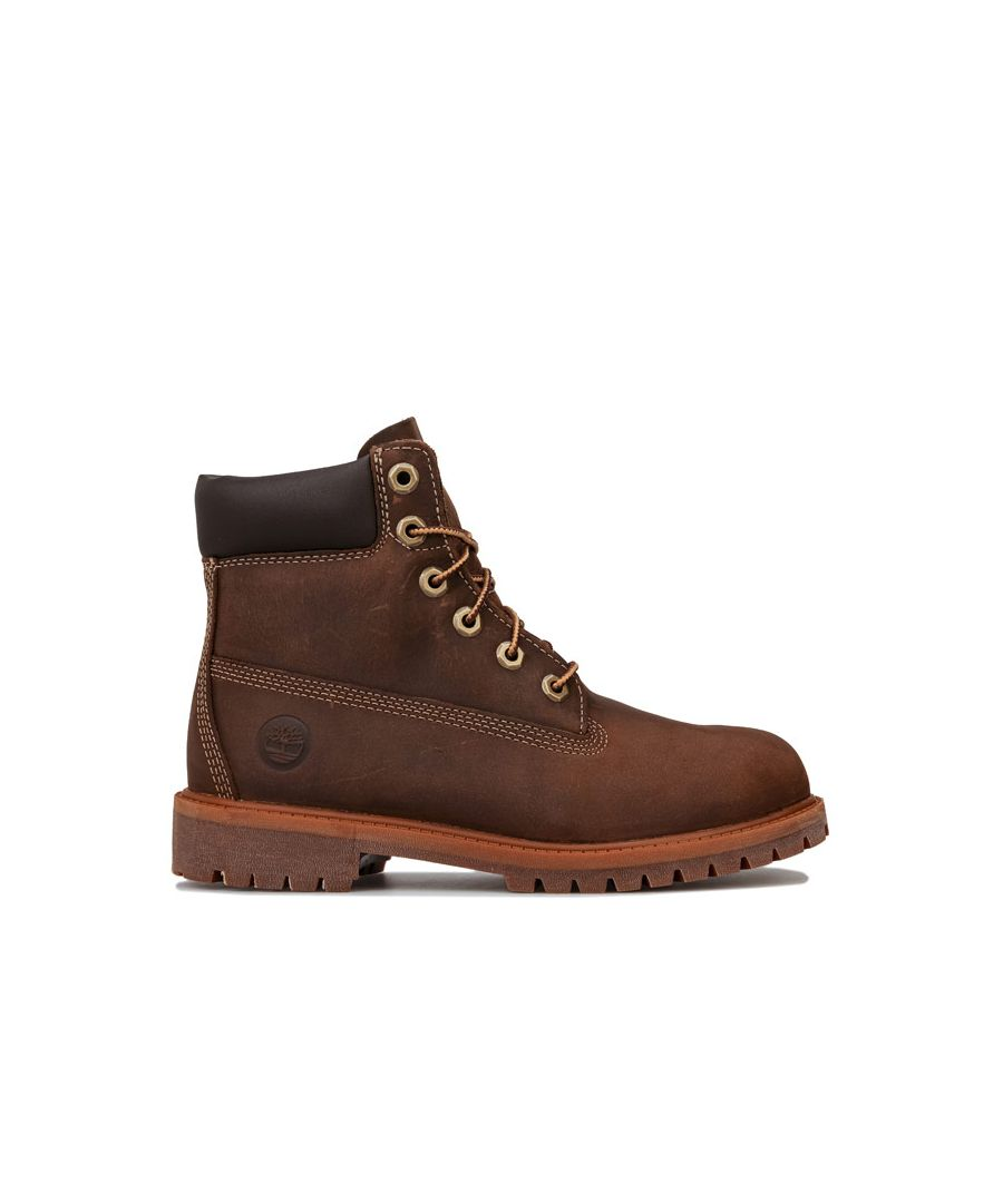 Image for Boy's Timberland Junior Authentic 6 Inch Waterproof Boot in Brown