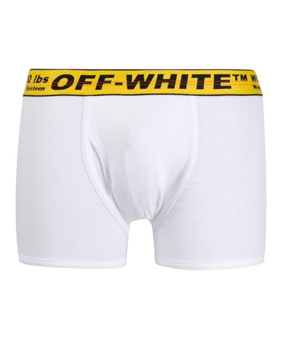Image for OFF-WHITE MEN'S OMUA003R201850350160 WHITE COTTON BOXER
