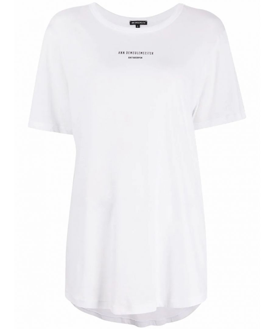 Image for ANN DEMEULEMEESTER WOMEN'S 20013979W232002 WHITE COTTON T-SHIRT