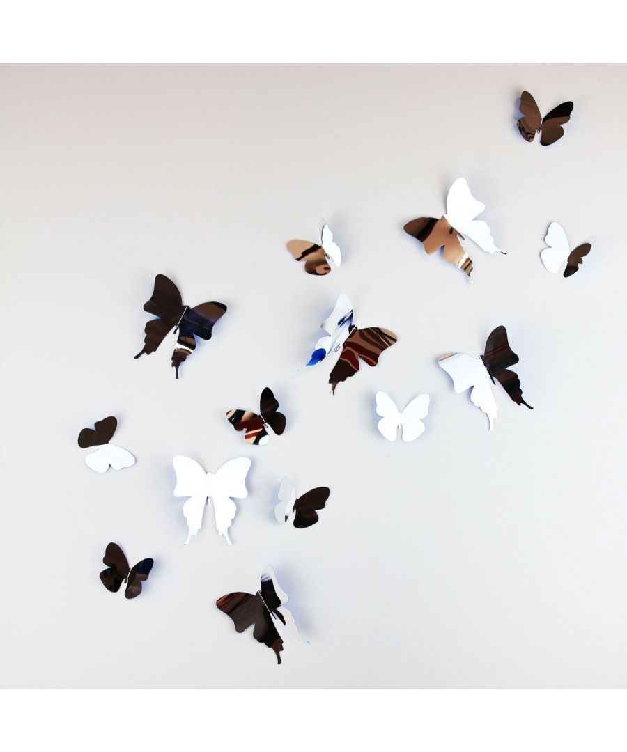 Image for WS1018 - Walplus 3D Butterflies Mirror
