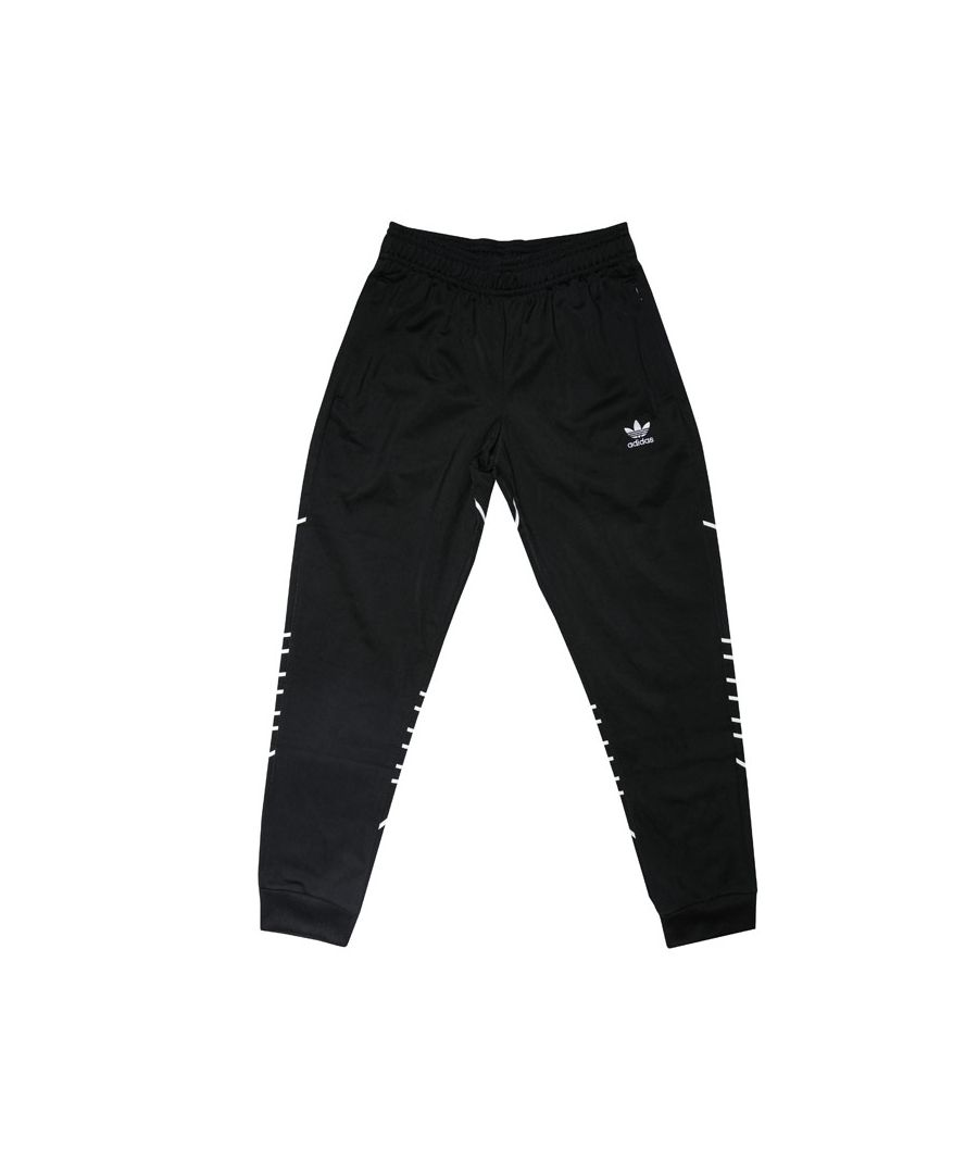 Image for Boy's adidas Originals Junior Large Trefoil Pants in Black-White