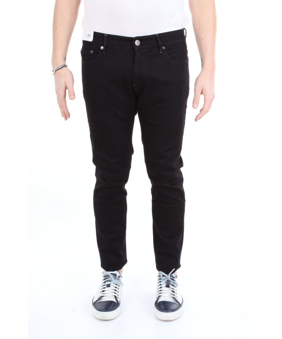 Image for PT01 MEN'S OA22C5KJ25Z20TRVNERO BLACK COTTON JEANS