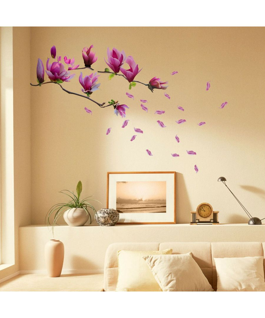 Image for Magnolia Flower Self Adhesive DIY Wall Sticker, Living room wall sticker
