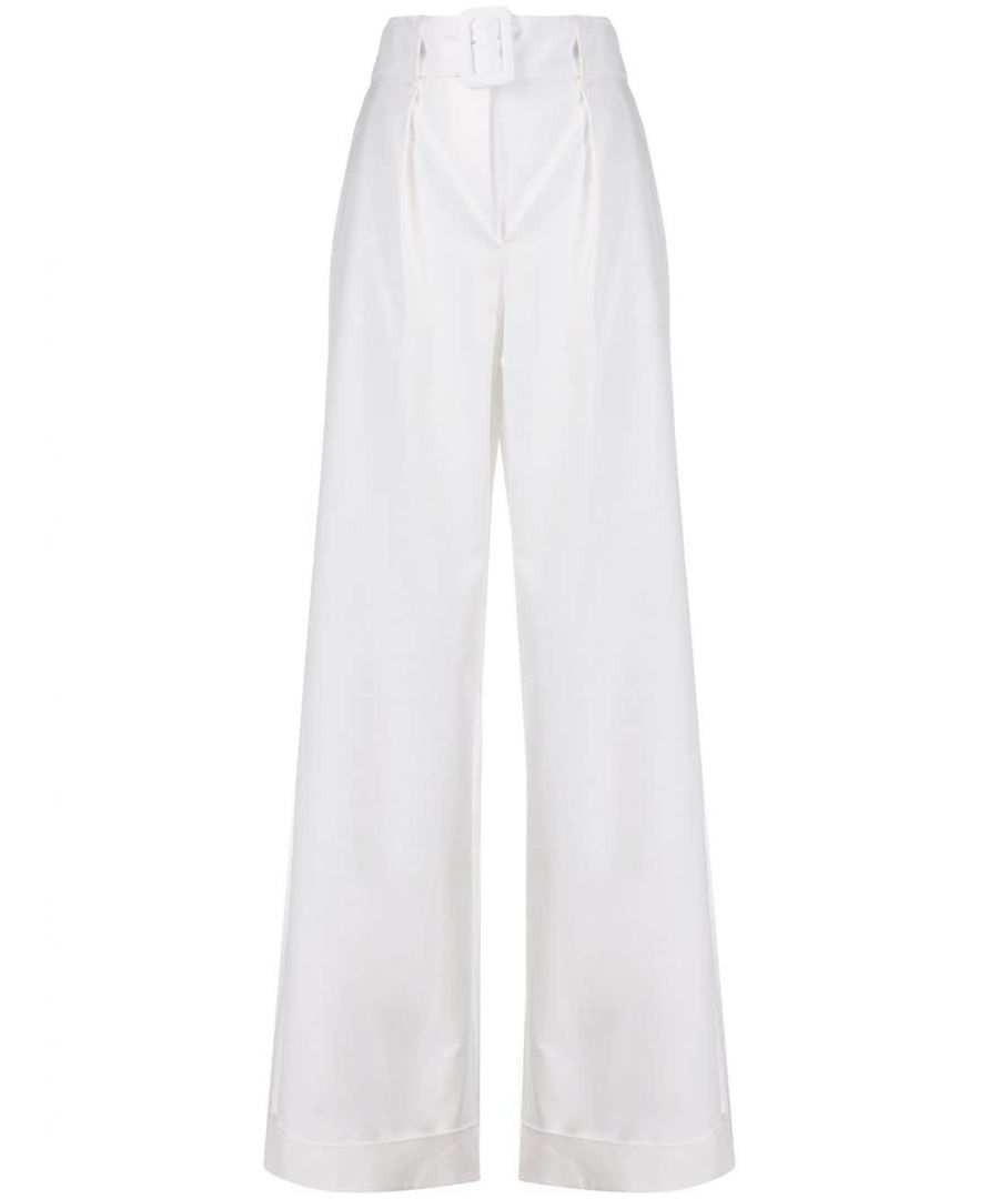 Image for FEDERICA TOSI WOMEN'S FTE20PA0880GA00170001 WHITE COTTON PANTS