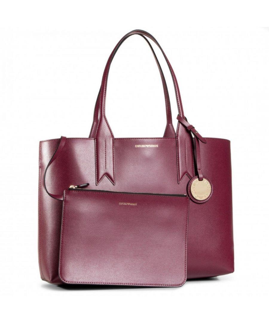 Image for Emporio Armani Dark Red Shopping Bag