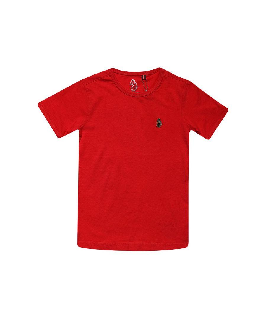 Image for Boys' Luke 1977 Infant Trouser Snake Crew T-Shirt in Red