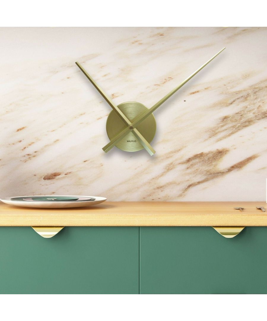 Image for Walplus FlexiClock Brass clock, Bedroom, Living room, Modern, Home office essential, Gift