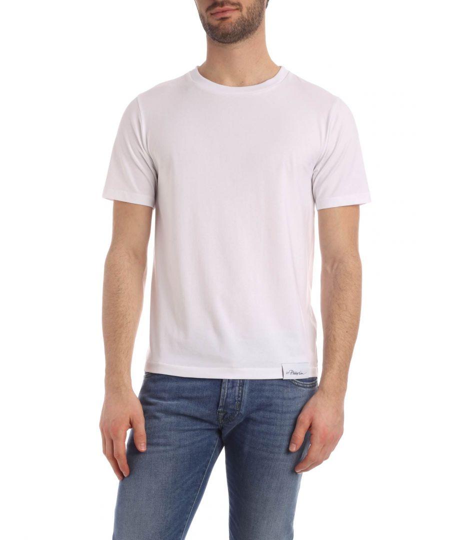 Image for 3.1 PHILLIP LIM MEN'S S2011438NLJMOP100 WHITE COTTON T-SHIRT