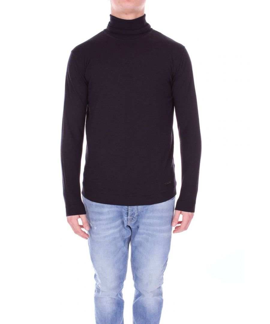 Image for ALESSANDRO DELL'ACQUA MEN'S AD0896DT8431BLACK BLACK WOOL SWEATER