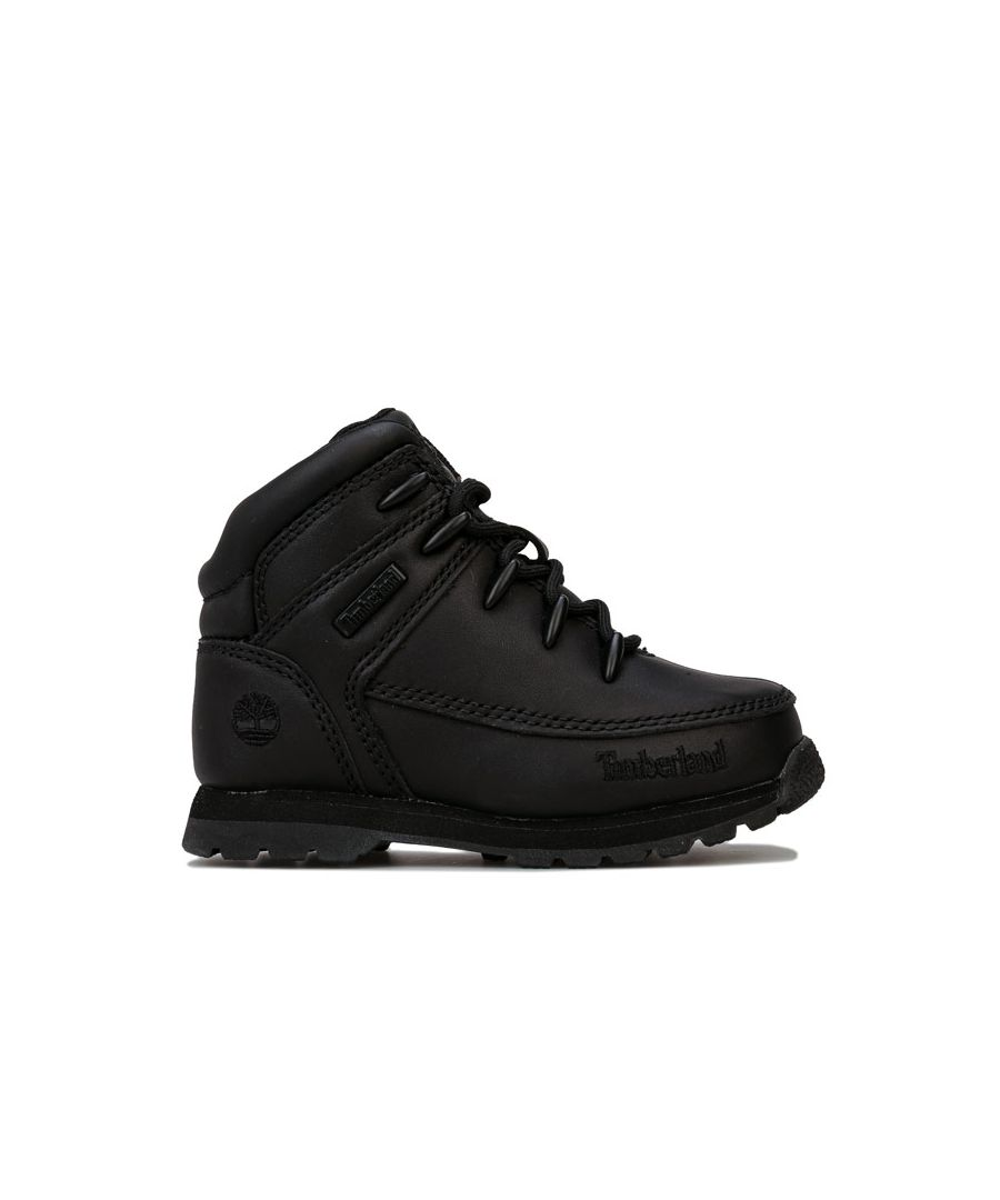 Image for Boy's Timberland Infant Euro Sprint Boots in Black