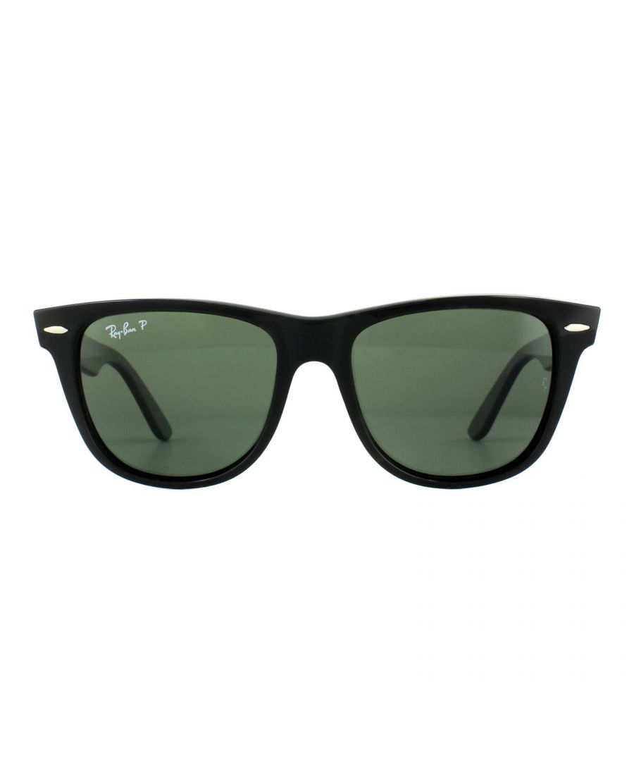 Image for Ray-Ban Sunglasses Wayfarer 2140 901/58 Black Green G-15 Polarized Medium 50mm