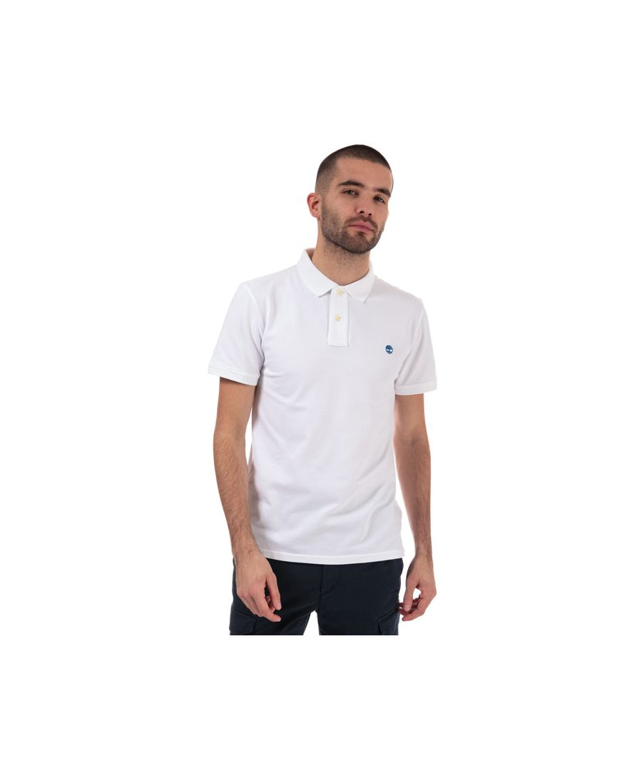 Image for Men's Timberland Stretch Pique Polo Shirt in White