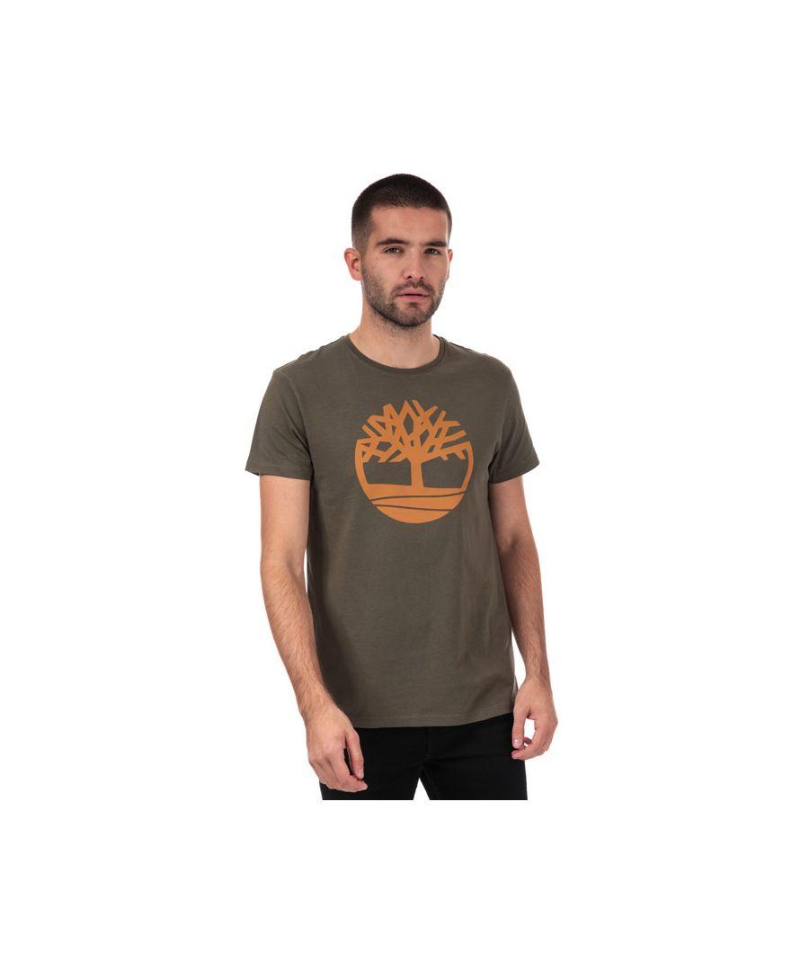 Image for Men's Timberland Brand Tree Logo T-Shirt in Khaki